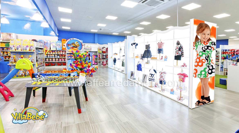 Arredamento negozio abbigliamento calzature giocattoli for Arredo negozi salerno