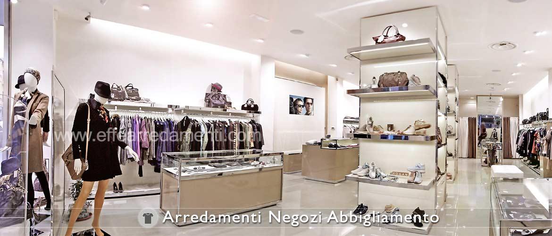 Arredamento negozi abbigliamento effe arredamenti for Negozi mobili da giardino milano