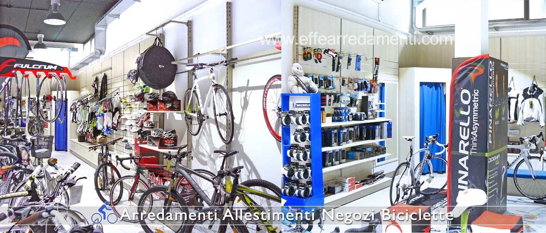 Arredamento negozi biciclette effe arredamenti for Negozi arredamento ancona
