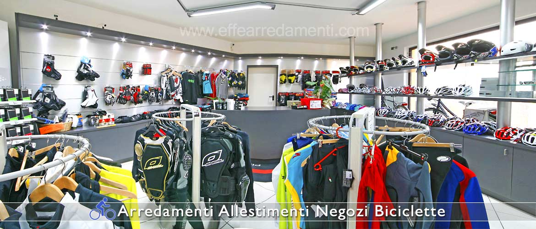 Arredamento negozi biciclette effe arredamenti for Arredamenti per negozi di abbigliamento