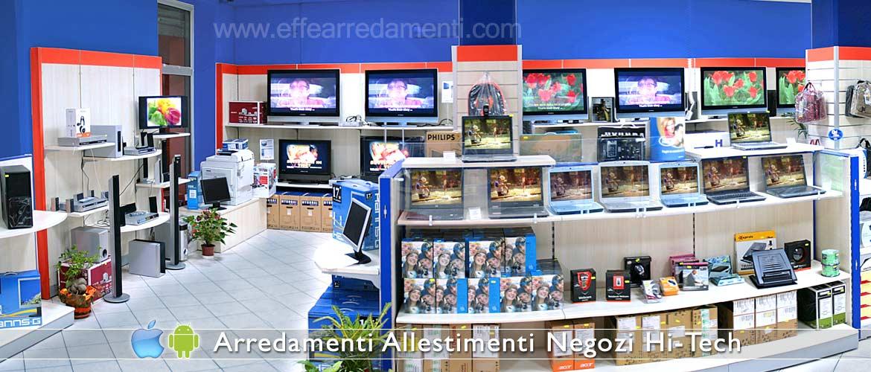 Arredamento negozi elettronica computer smartphone effe for Negozi arredamenti napoli