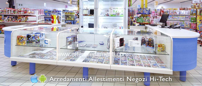 Arredamento negozi elettronica computer smartphone effe for Arredamento vetrine
