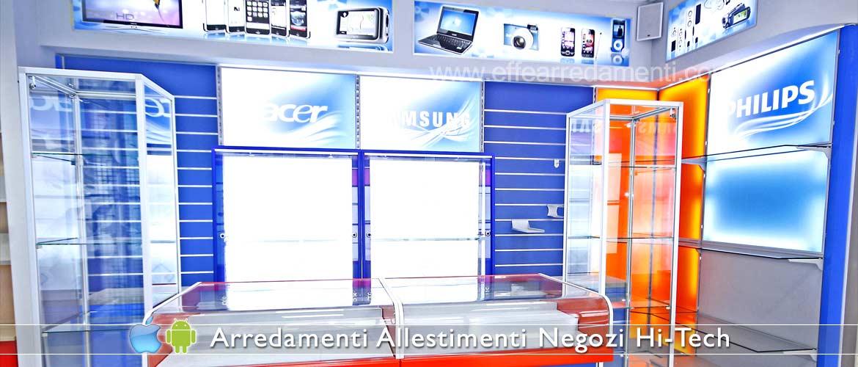 Arredamento negozi elettronica computer smartphone effe for Arredamento hi tech