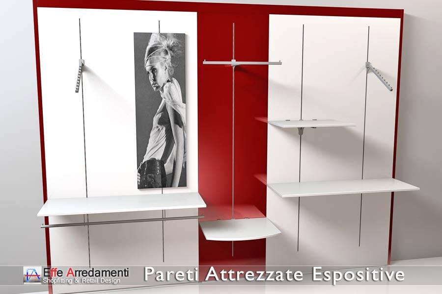 Pareti attrezzate negozi scaffali negozi effe arredamenti for Immagini pareti attrezzate