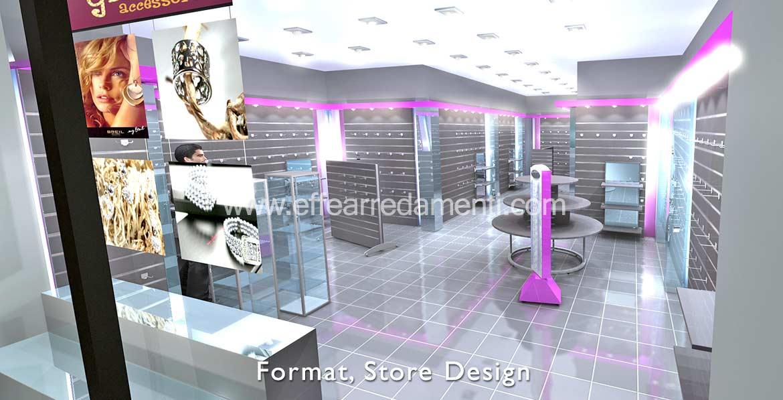 Arredamenti e allestimenti franchising e concept store for Arredamento accessori