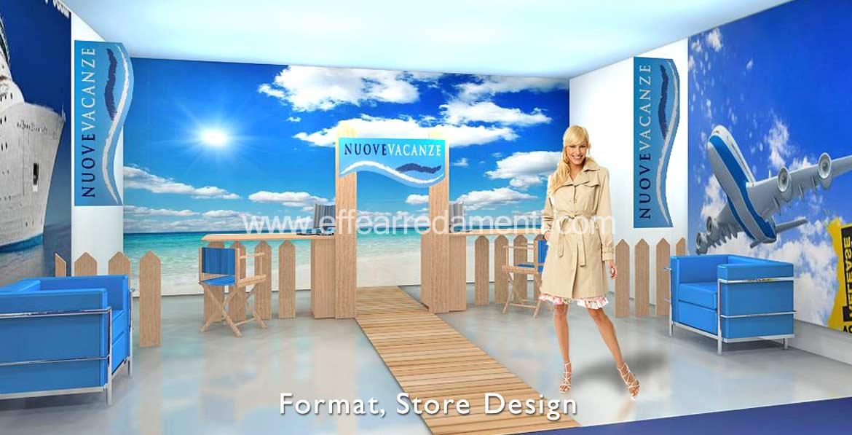 Arredamenti e allestimenti franchising e concept store for Arredamento agenzia viaggi