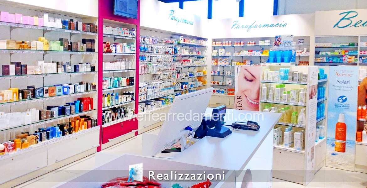 Realizations furnitures shops - Pharmacies, Parafarmacie, Sanitary, Ortopedie