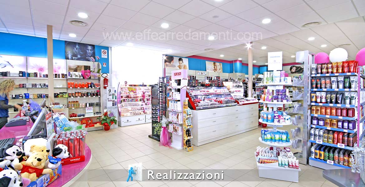 Realizations furnitures shops - Perfumery, Cleaning, House hygiene and person