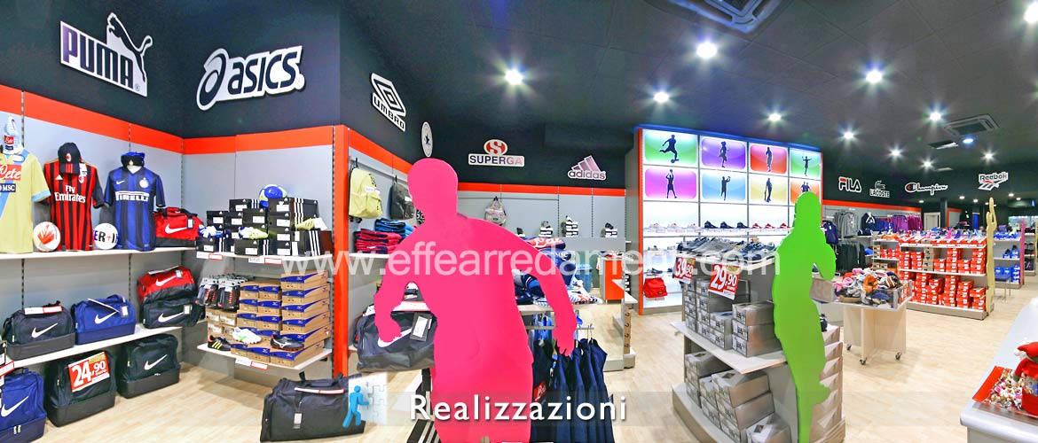 Realizations shop furnishing - Sport