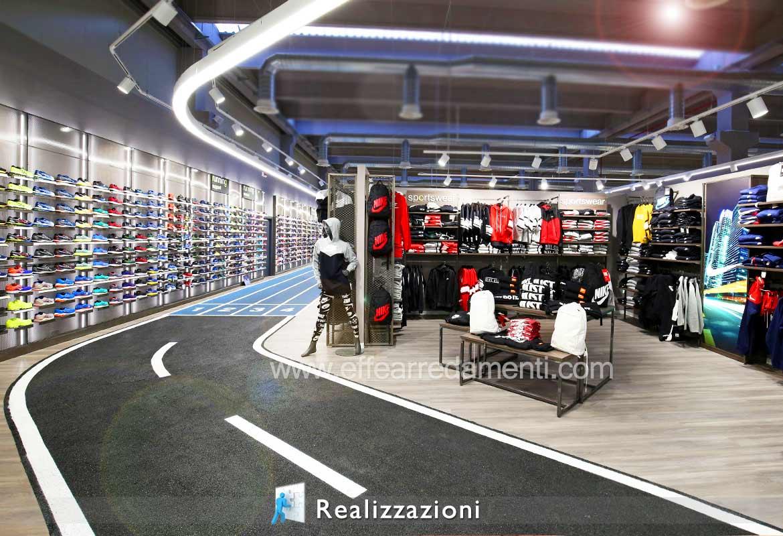 Realizzazioni arredamenti negozi - Sport