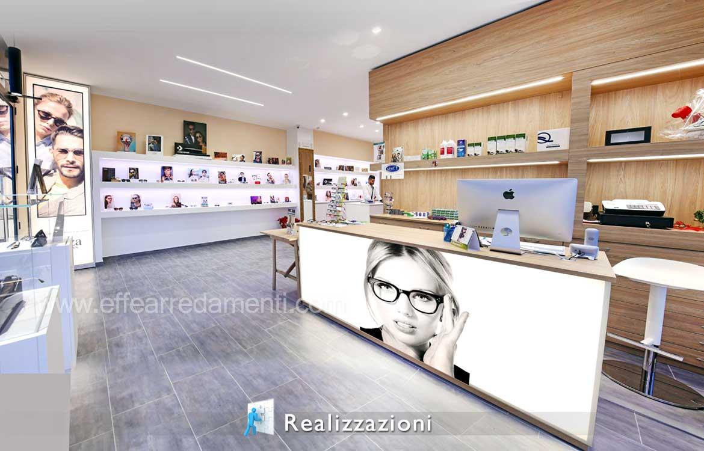 Come arredare negozio Ottica - Realizzazione esempio