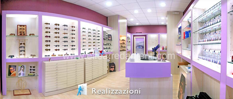 Realizzazioni arredamenti negozi - Ottica