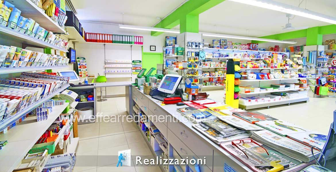 Realizations furnitures shops - Cartoleria, Tobacconist, Newsstand, Receipt