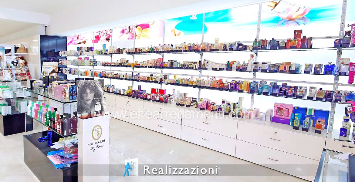 Shop furniture realizations - Perfumery