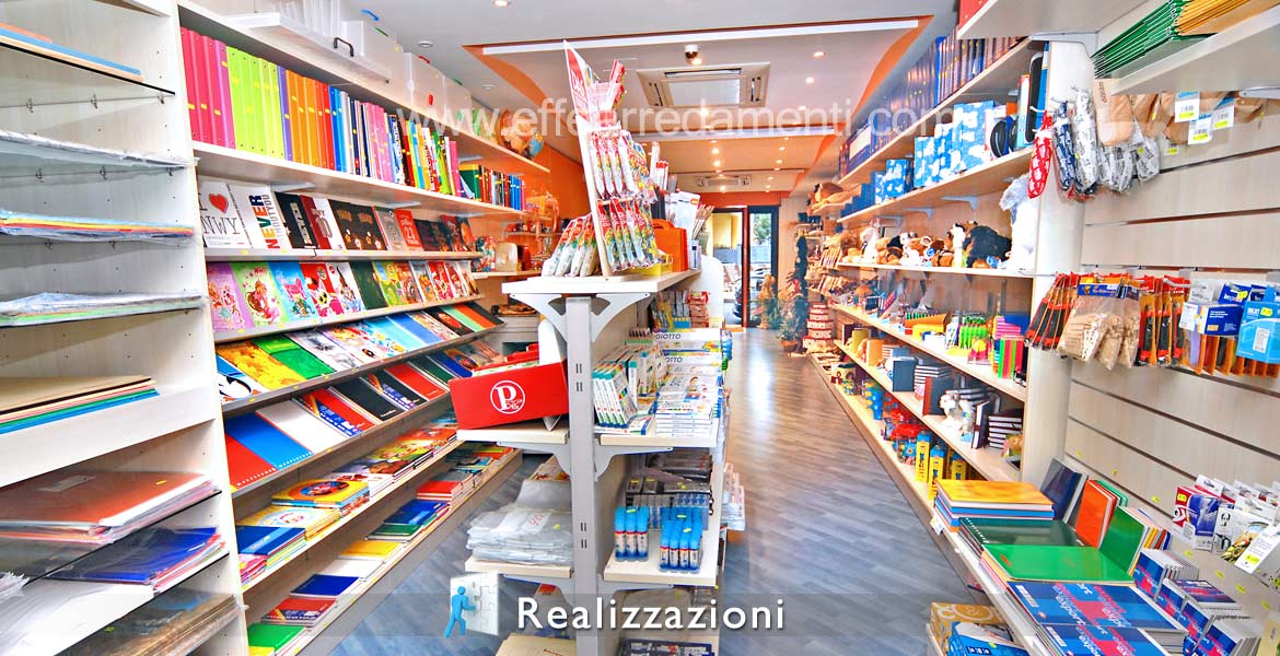 Realizations furnitures shops - Cartoleria