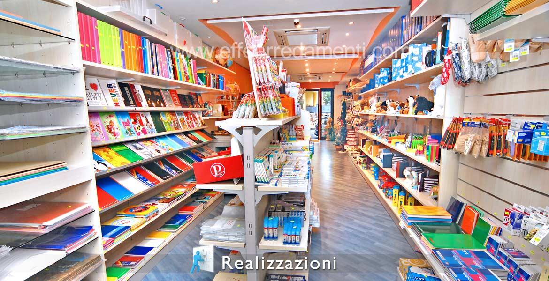 Realizzazioni arredamenti negozi - Cartoleria