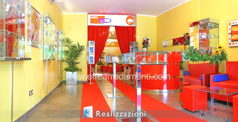 Realizzazioni arredamenti negozi - Telefonia