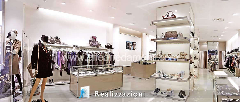 Esempi di arredo negozi effe arredamenti for Negozi mobili milano