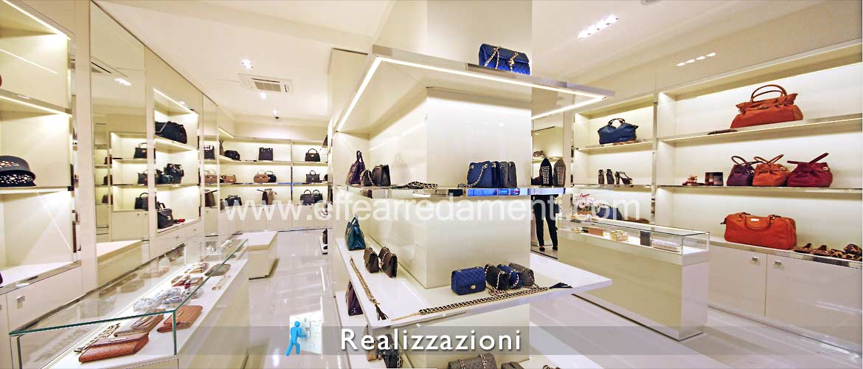 Realizzazione arredamento negozi - Calzature, Borse