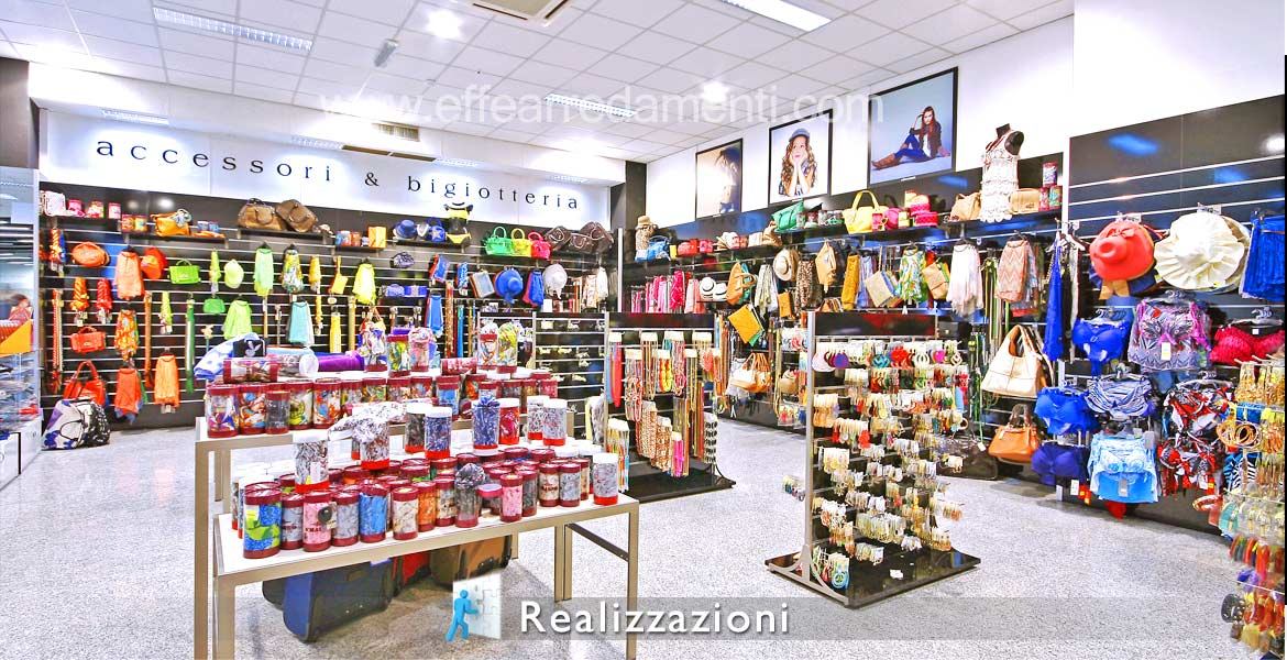 Realization of shops and fashion accessories