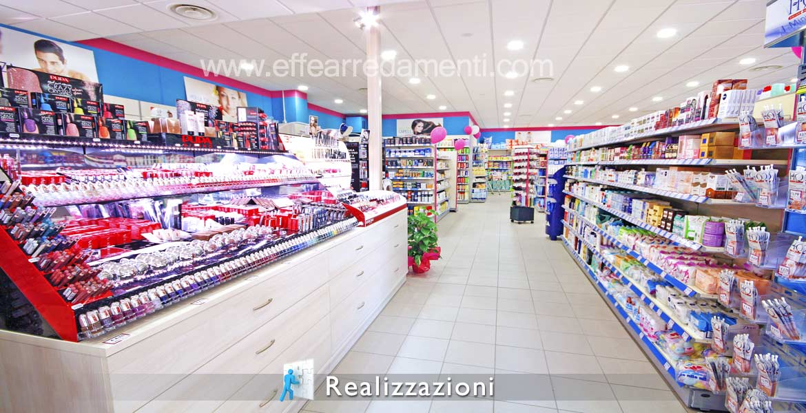 Shop furnishing realization - Perfumery, Makeup