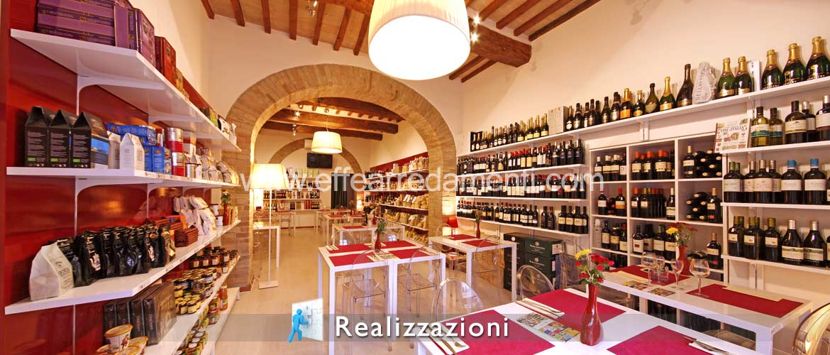 Realization of shop furnishing - Enoteca, Typical Products