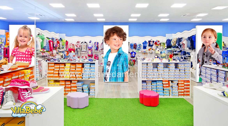 儿童鞋和服装店家具 - 建设Potenza