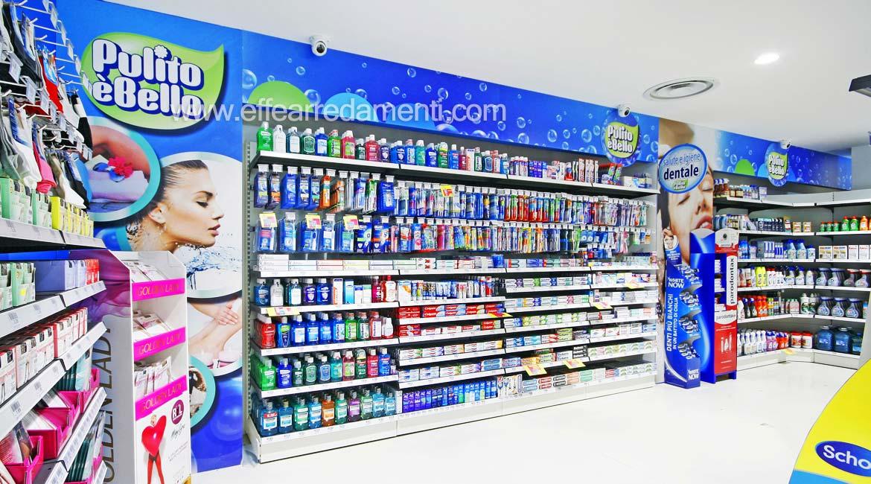 Arredi scaffali esposizione prodotti igiene dentale verona
