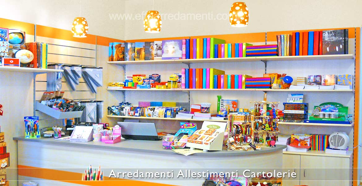 Furniture for stationery, back counter
