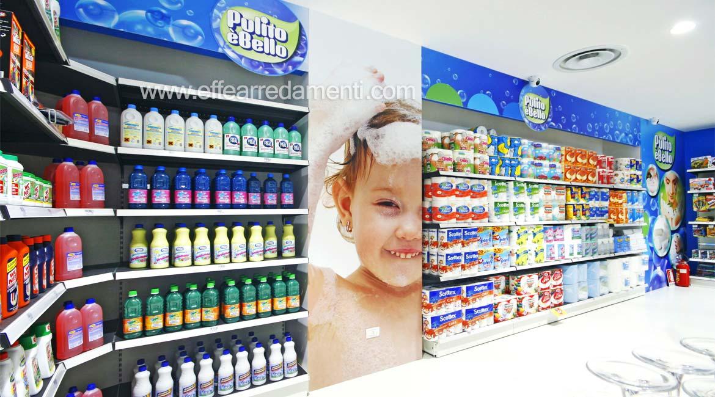 Arredi Scaffali Esposizione Prodotti Igiene Pulizia Casa Verona