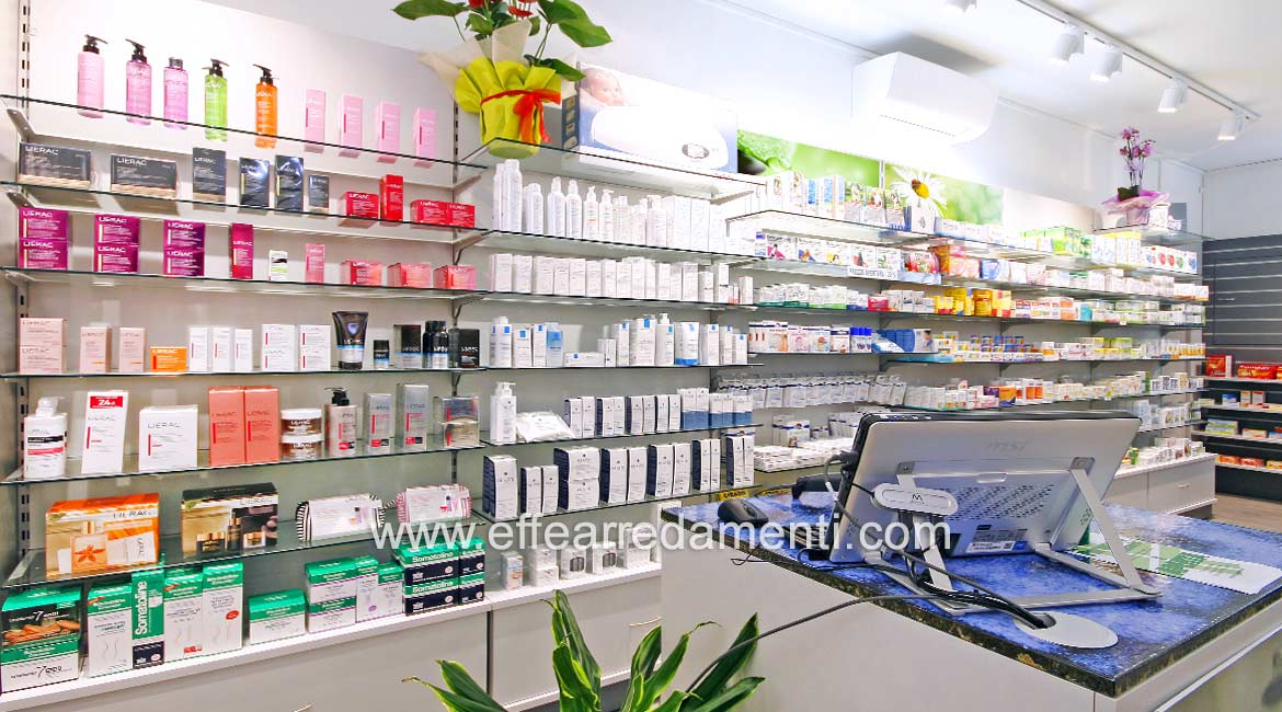 Wall Furnishings for Pharmacy in Bologna
