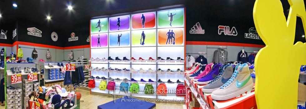 Arredamento negozio a Benevento: articoli sportivi