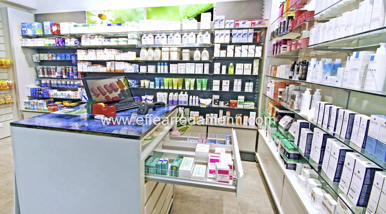 Modulo Banco Singolo con Cassettiere per Farmaci