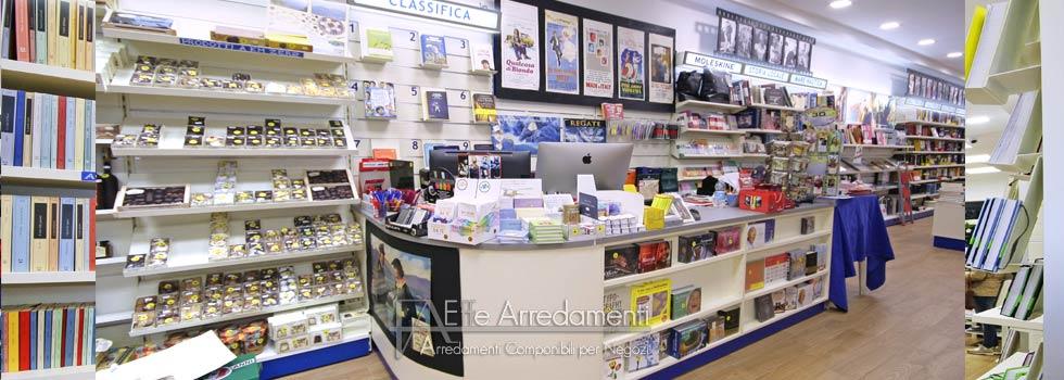 Shop decoration in Sorrento: bookshop