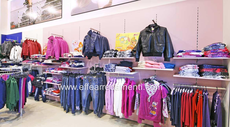Arredo Parete Attrezzata Grande Negozio reparto Abbigliamento Donna Giovane Roma