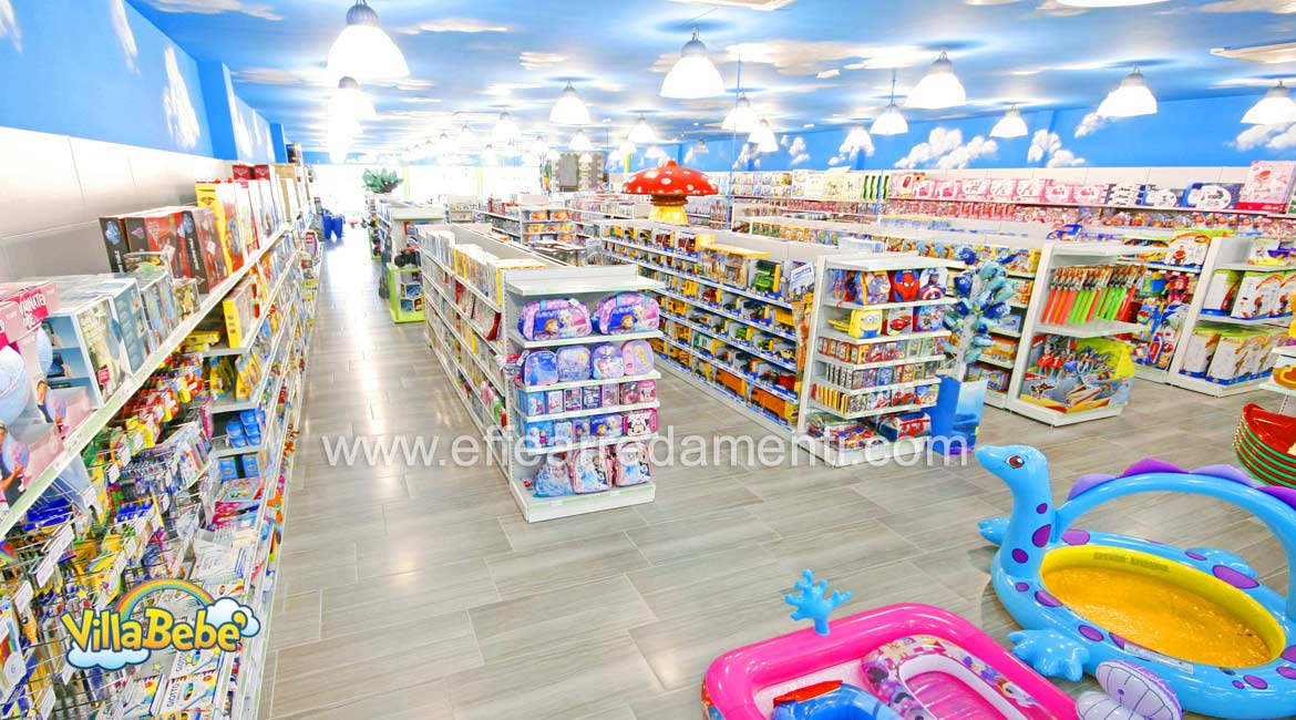 Rayonnage pour grand magasin de jouets