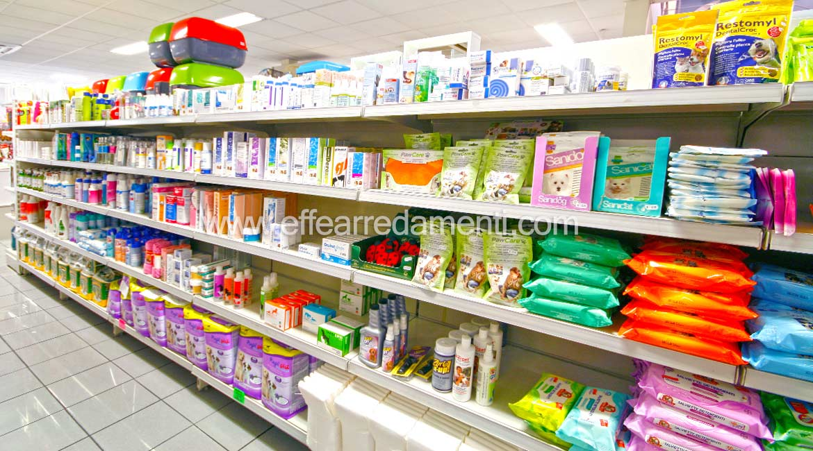 Furnishings for display of animal hygiene products