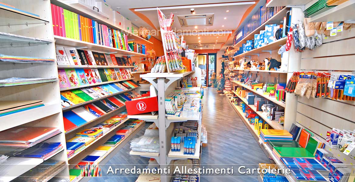 Complete furnishings for stationery shops
