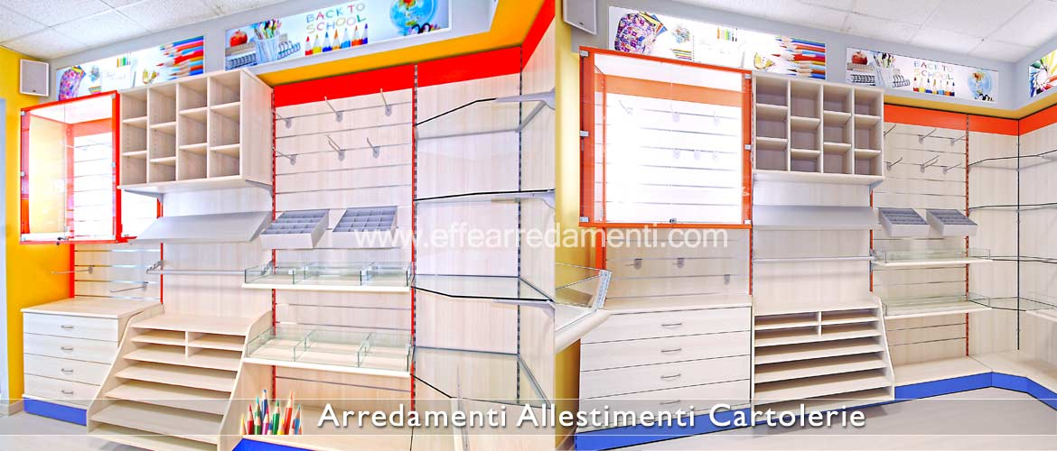 Modular furniture and furnishings for stationery shops - Exhibition hall