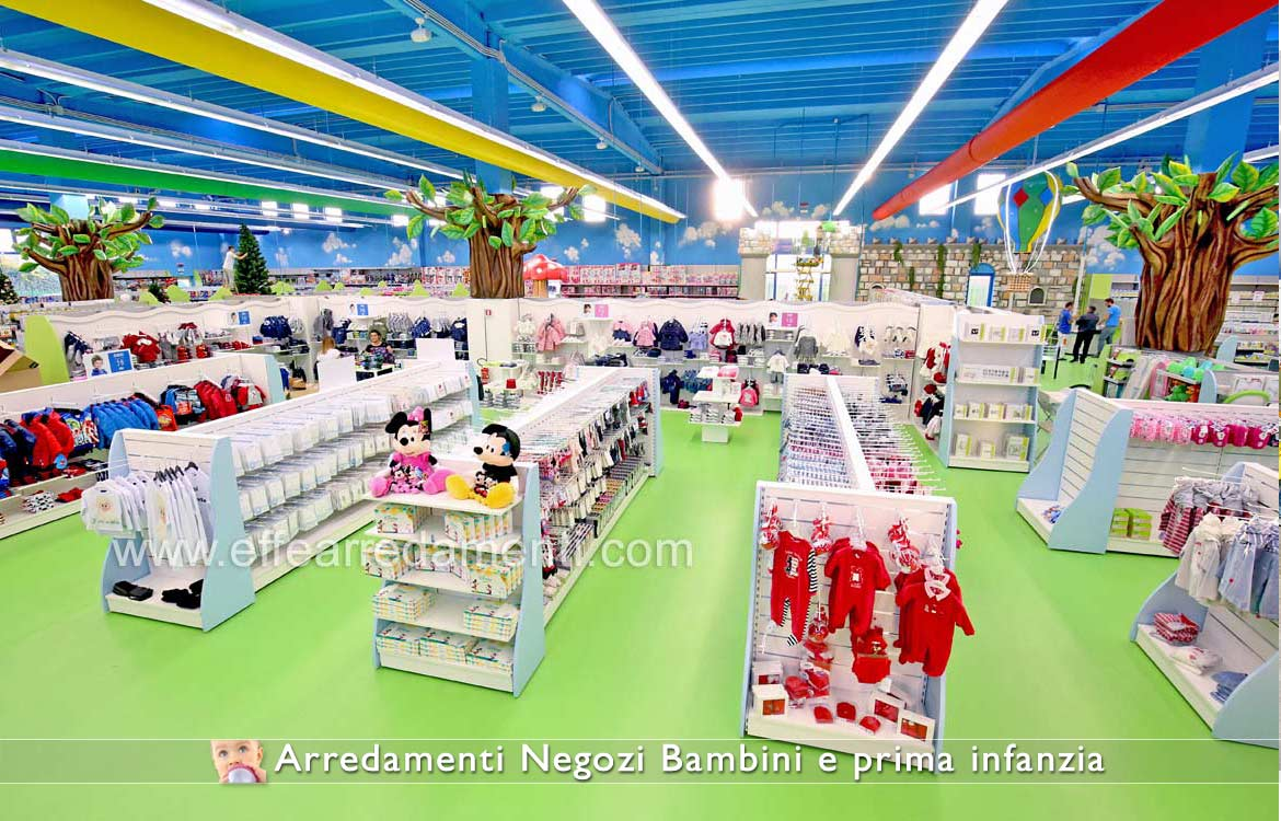 Furniture stores show products for children