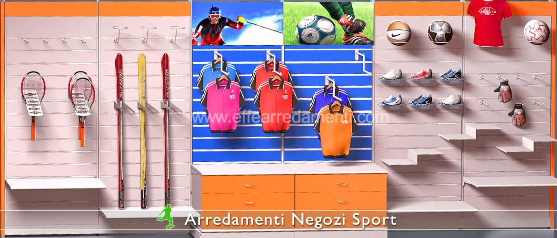 Meubles modulaires et étagères pour magasins de sport