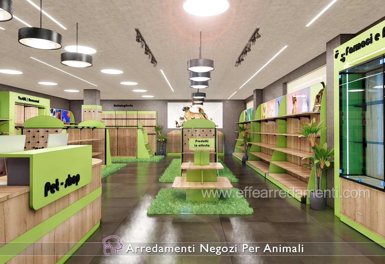Progettazione Design Pet shop negozio prodotti per animali