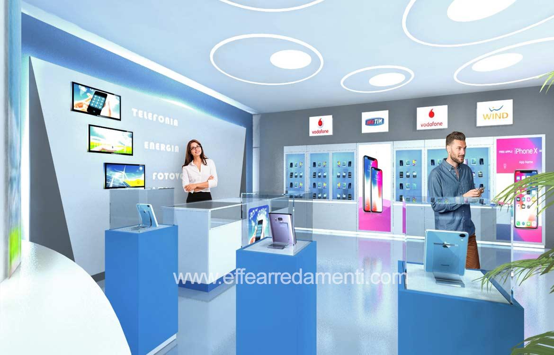 design arredo negozio telefonia multi brand