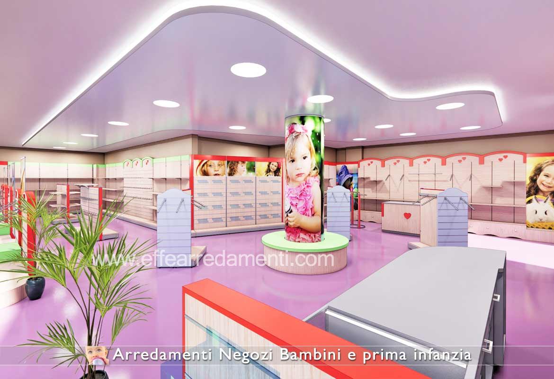 Progetti Arredo negozi per Bambini