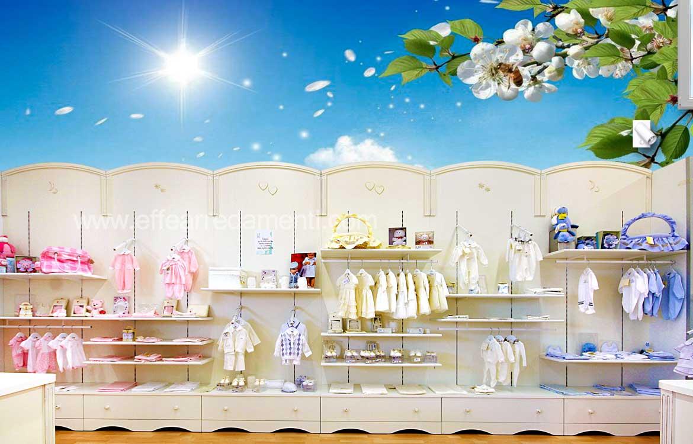 Arredamenti allestimenti negozi abbigliamento neonato