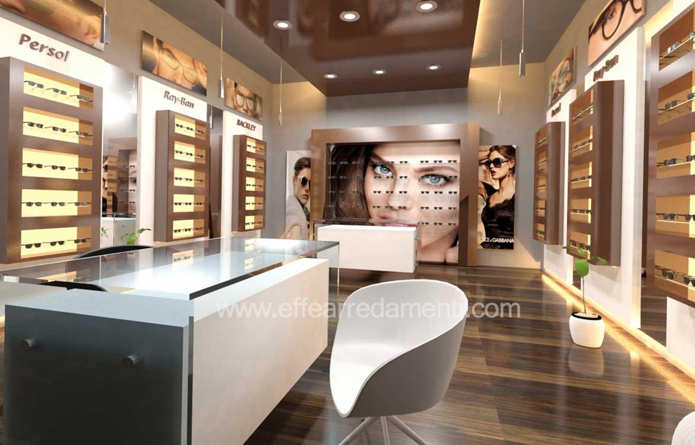Arredamenti per ottiche allestimento ottiche mobili per for Montaggio arredamenti negozi