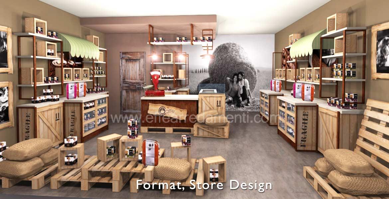 arredamenti per negozi in franchising e concept store