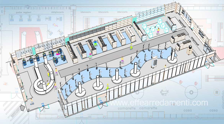 progetti negozi layout-arredamento