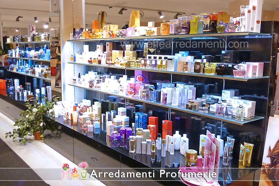 Perfumery furniture with illuminated floors