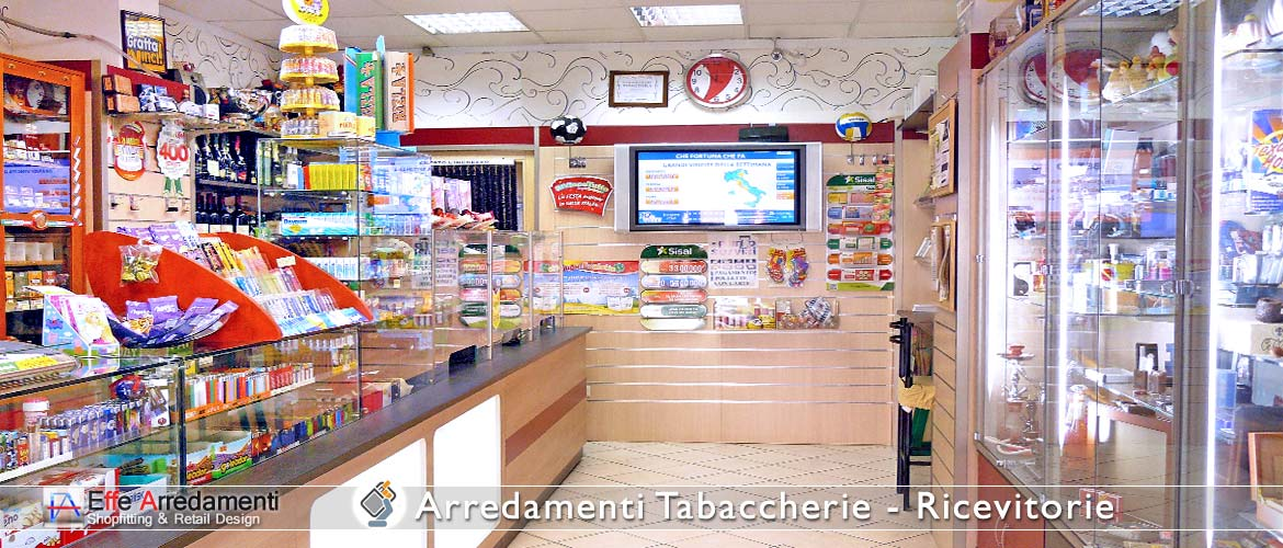 Preparation of the Tabaccheria Furnishings Receipt of smoking items